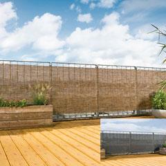 Produktbild Sichtschutzmatte 90x500 cm PVC titan