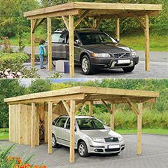 """Produktbild Carport """"Bremen 1"""" mit Dacheindeckung aus Aluminium"""
