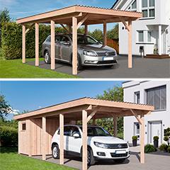 """Produktbild Carport  """"Erding 1"""" Dacheindeckung aus PVC"""