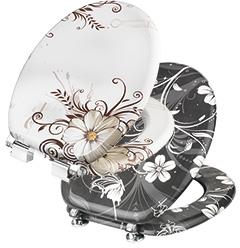 """Produktbild WC-Sitz """"Brown Flower"""""""