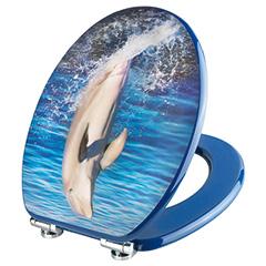 "Produktbild Dekor 3-D WC-Sitz ""Dolphin"""
