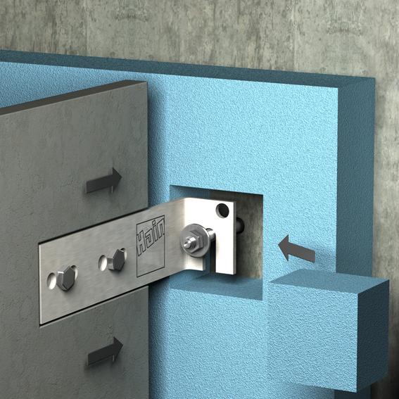 hain system bauteile u lichtschacht 100 cm wandabstand mit boden w r. Black Bedroom Furniture Sets. Home Design Ideas