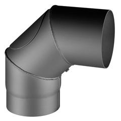 Produktbild Knie 90° drehbar Ø150/2  mit Reinigungsöffnung, schwarz