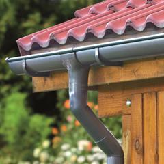 Produktbild Halbrunde Dachrinne Dachrinne, halbrund, braun, 3 m, PVC.