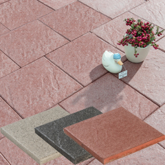 Produktbild Cibosa Terrassenplatte 40x40x4 cm quarz