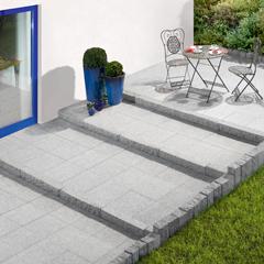 Produktbild Granit-Terrassenplatte Hellgrau 30x30x2
