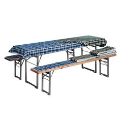 Produktbild Bierbankauflagen-Set, blau karo für 70cm