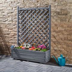 Produktbild Blumenkasten mit Gitter