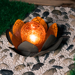 Globo LED-Solar Blume