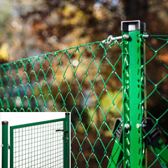 Produktbild PVC-Viereckgeflecht ZH 1,25 m, L 25 m, 60x60 mm/2,5 mm grün