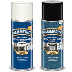 Hammerite Metall-Schutzlack-Spray, Glänzend & Hammerschlag