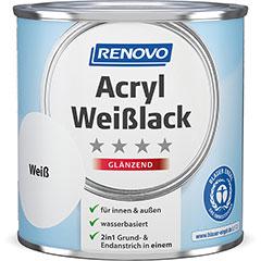Produktbild 2in1 Acryl Weißlack 375 ml