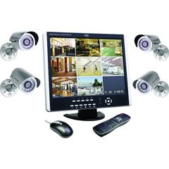 Produktbild DVR Kamera Set bestehend aus 8-Kanal TFT Monitor