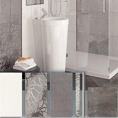 "Produktbild Dekor ""City 42S Infinity/S-III"" Grau, 40 x 20 cm"