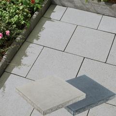 Produktbild Betonplatte 40x40x4,0 cm grau mit Fase