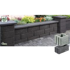 Produktbild Gartenmauer-System 50x25x20 cm grau