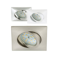 Produktbild LED-Einbauleuchte eckig-schwenkbar 3er-Set chrom