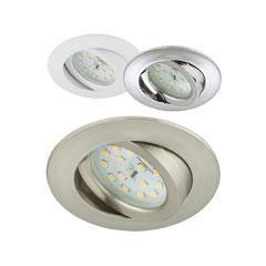 Produktbild LED-Einbauleuchte rund-schwenkbar 3er-Set nickel-matt