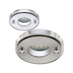 Produktbild LED-Einbauleuchte rund-starr alu-gebürstet