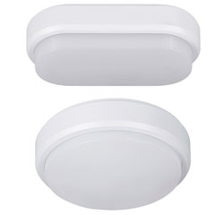 "Produktbild LED-Wand- und Deckenleuchte ""Bulkhead"" oval ohne Sensor"