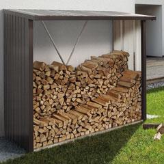 "Produktbild Kaminholzregal ""WoodStock"" 230 dunkelgrau-metallic"