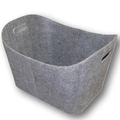 Produktbild Filzkorb grau m. weißen Nähten