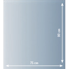 Produktbild Glasbodenplatte 90x75cm
