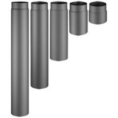Produktbild Rauchrohr Ø150/2 -  1000mm lang, schwarz