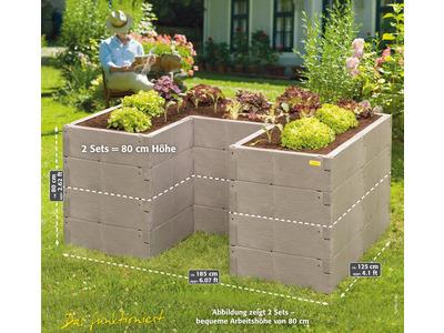 Produktbild Juwel Hochbeet Timber Ergoline 185x125x40 cm (U-Form) ca.790