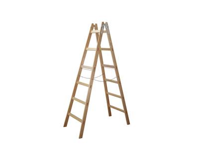Produktbild Holz-Stehleiter 2 x 5 Sprossen Länge 1,70m Nr. A60105